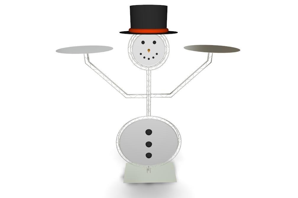 Snowman Cake Platter