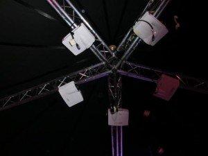Rotunda projectors conference set up