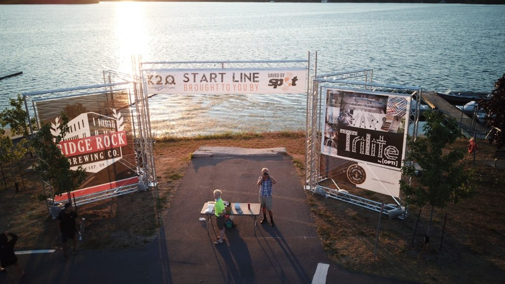 custom truss kto start line 1024x576 - Trilite sponsored the 2018 K2O Paddling Race