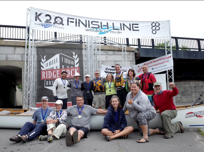 trilite start finish gate bespoke truss - Trilite sponsored the 2018 K2O Paddling Race